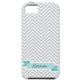 Cinta conocida de encargo linda en el modelo gris iPhone 5 Case-Mate cárcasa