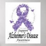Cinta de Alzheimers de mariposas Impresiones