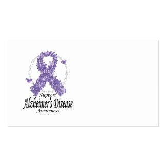 Cinta de Alzheimers de mariposas Tarjetas Personales