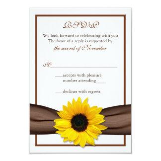 Cinta de Brown del girasol que casa la tarjeta de Anuncio