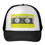 Cinta de casete adaptable de neón amarilla gorras