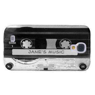 Cinta de casete audio de música en el caso vivo de funda samsung s4