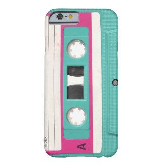 Cinta de casete audio retra del trullo del vintage funda de iPhone 6 barely there