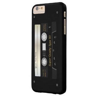 Cinta de casete audio retra divertida funda de iPhone 6 plus barely there