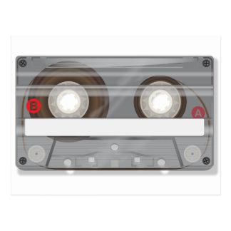 Cinta de casete audio retra postales