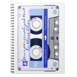 Cinta de casete - azul - libretas