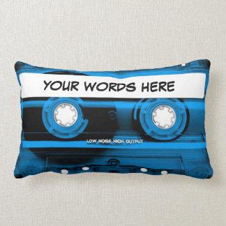 Cinta de casete azul personalizada cojines
