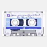 Cinta de casete - azul - rectangular altavoz