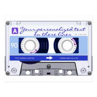 Cinta de casete - azul - postal
