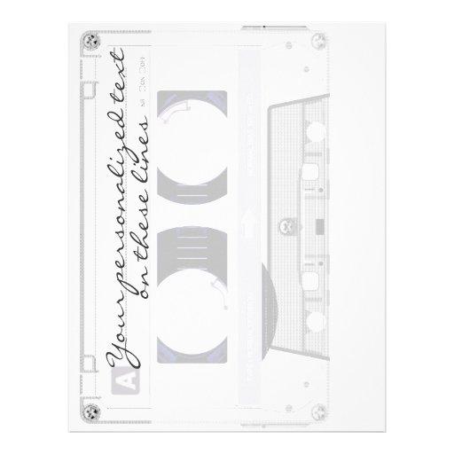 Cinta de casete - blanco - membrete personalizado