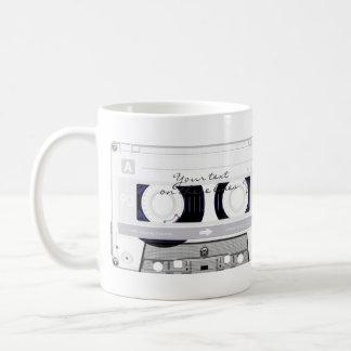 Cinta de casete - blanco - taza de café