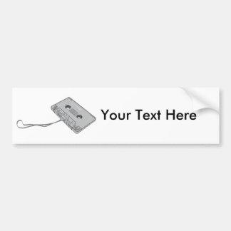 Cinta de casete compacta - cinta magnetofónica pegatina de parachoque