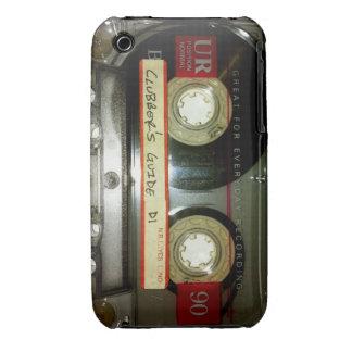 Cinta de casete de la escuela vieja iPhone 3 Case-Mate carcasas