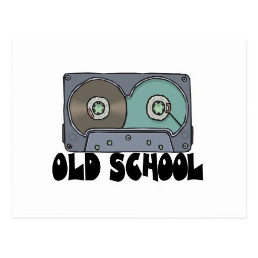 cinta de casete de la escuela vieja postal