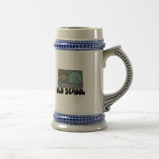 cinta de casete de la escuela vieja tazas de café