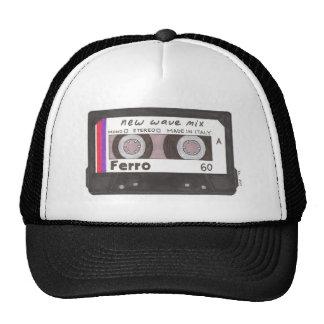 Cinta de casete de la nueva ola gorras de camionero