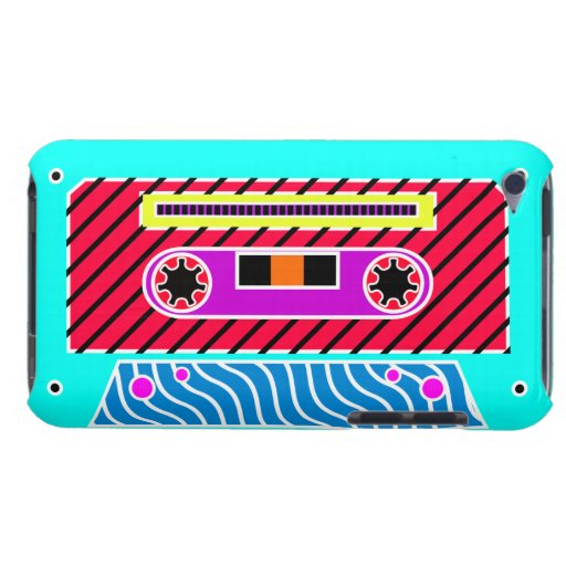 Cinta de casete de neón 3 iPod touch fundas