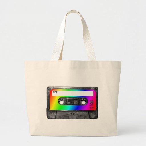 Cinta de casete del arco iris bolsa