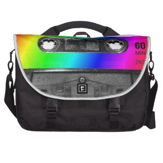 Cinta de casete del arco iris bolsas para portátil
