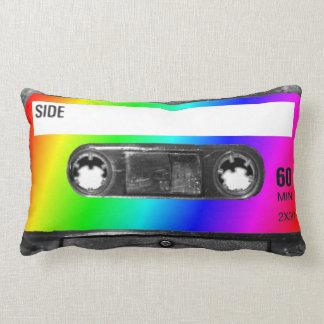 Cinta de casete del arco iris cojín lumbar