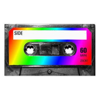 Cinta de casete del arco iris plantilla de tarjeta de visita