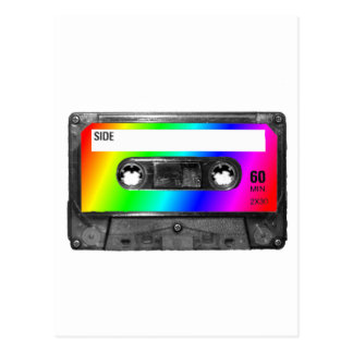 Cinta de casete del arco iris postales