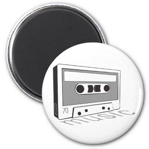 cinta de casete del vintage imán redondo 5 cm