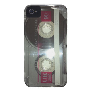 Cinta de casete del vintage - limpie iPhone 4 Case-Mate carcasa
