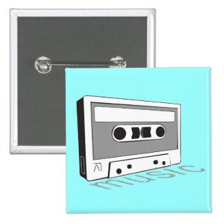 cinta de casete del vintage pin