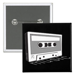 cinta de casete del vintage pins