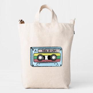Cinta de casete dibujada mano del dibujo animado bolsa de lona duck
