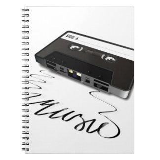 Cinta de casete cuadernos