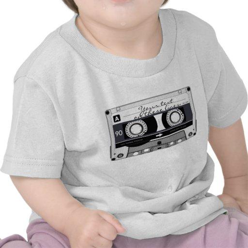 Cinta de casete - negro - camiseta