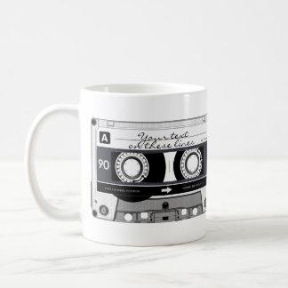 Cinta de casete - negro - taza de café