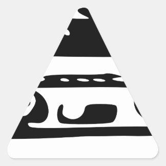 Cinta de casete pegatina triangular