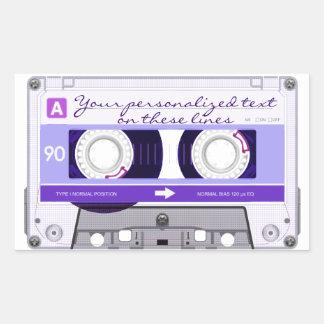 Cinta de casete - púrpura - rectangular altavoz