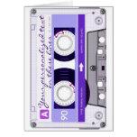 Cinta de casete - púrpura - tarjetas