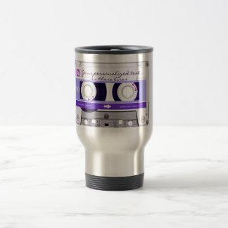 Cinta de casete - púrpura - tazas de café