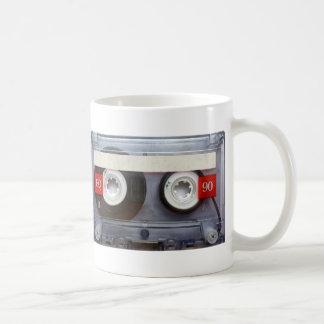 Cinta de casete retra de la diversión taza de café