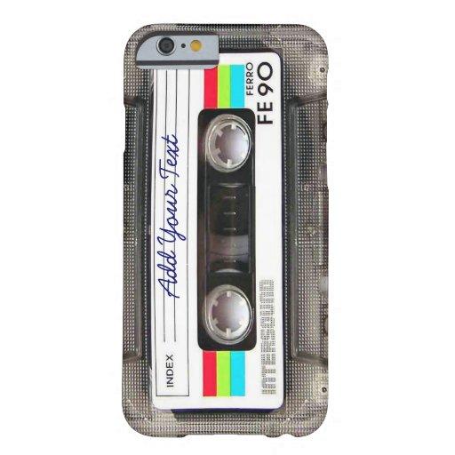 Cinta de casete retra divertida de música del funda de iPhone 6 barely there