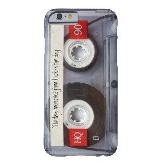 Cinta de casete retra funda para iPhone 6 barely there