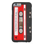 Cinta de casete retra roja Casecase personalizado