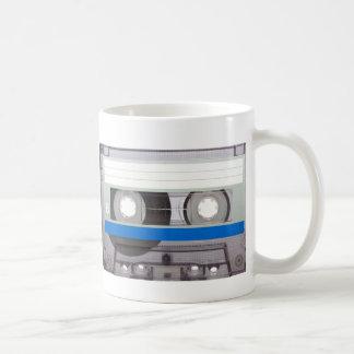 Cinta de casete retra taza de café
