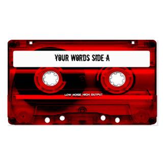 Cinta de casete roja personalizada tarjetas de visita