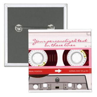 Cinta de casete - rojo - pin