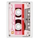 Cinta de casete - rojo - tarjetas