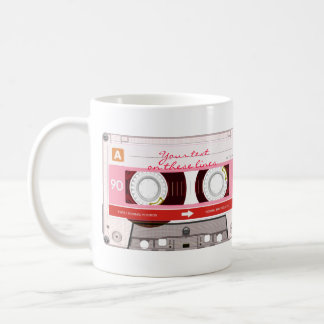 Cinta de casete - rojo - taza de café