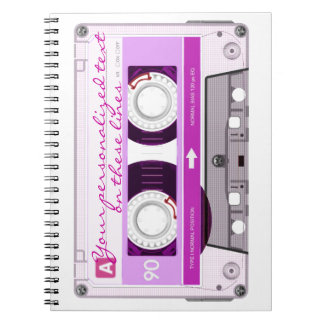 Cinta de casete - rosa - cuaderno