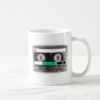 Cinta de casete taza de café