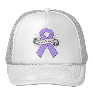Cinta de general Cancer Find A Cure Gorros Bordados
